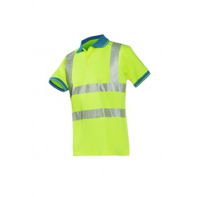 Polo jaune fluo Ambulancier Ref. 558AA2MC1