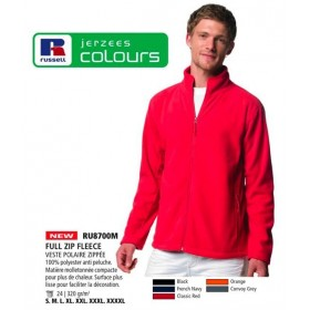 Pull zip fleece polaire Grandes Tailles