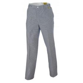 Pantalon coton PREMIUM pied de poule bleu2100 Pantalon 21000043499