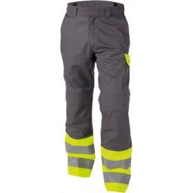 Lenox (200818) Pantalon multinormes haute visibilité bicolore avec poches genoux