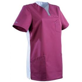 Tunique gemme semi-cintrée MAITHÉ pink / blanc 2MAT1PC Paramédical 2MAT1PC