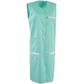 Blouse sans manches MONA vert d'eau /blanc 8CESPC Paramédical 8CESPC