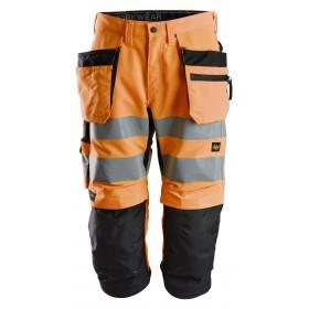6134 Pantacourt+ haute visibilité avec poches holster, LiteWork, Classe 2 High visibility 6134