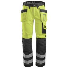 3233 Pantalon haute visibilité avec poches holster, Classe 2