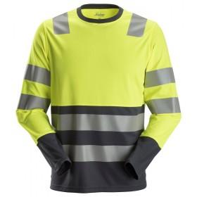 AllroundWork, T-shirt haute visibilité avec longues manches 2433 Haute Visibilité 2433