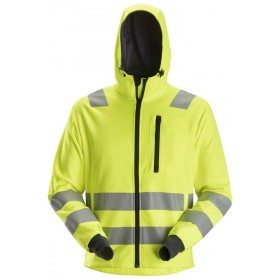 AllroundWork, Sweat à capuche zippé haute visibilité, Classe 2/3 8039 Haute Visibilité 8039