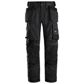 6251 AllroundWork, Pantalon+ en tissu extensible avec poches holster et coupe large Pantalons