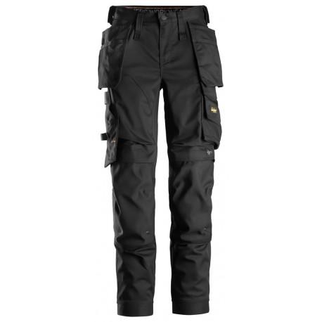 6247 Pantalon en tissu extensible pour femmes avec poches holster Pantalons