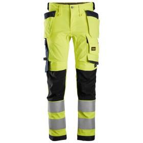 6243 Pantalon en tissu extensible avec poches holster, haute visibilité, Classe 2 AllroundWork High visibility