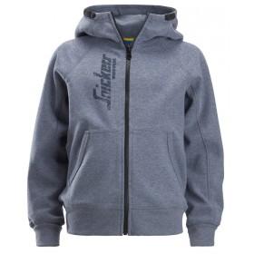 7508 Sweat à capuche zippé avec logo junior Enfants 7508