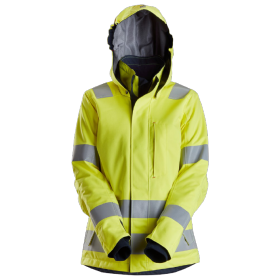 SNICKERS Veste à capuche isolée pour femme, haute visibilité, Classe 3
